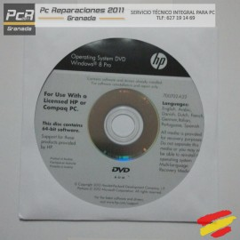 DVD WINDOWS 8 PRO 64 BITS SIN SERIE