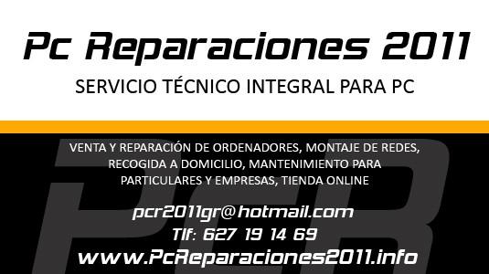 Pc Reparaciones 2011, Servicio Técnico de Pc